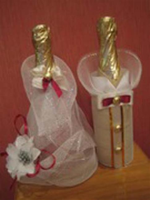 Мастер класс свадебные бутылки фото